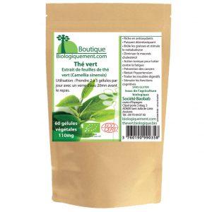 Acheter du thé vert bio en gélules sur la boutique Biologiquement.com